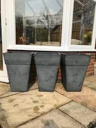 3x large garden planters in church