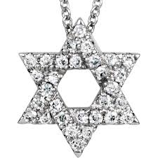 petite 14k white gold diamond star of