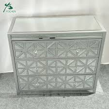 mirrored furniture wood storage cabinet
