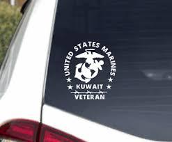 U S Marine Kuwait Veteran Decal Sticker Usmc Military Seal Car Truck Window Ebay