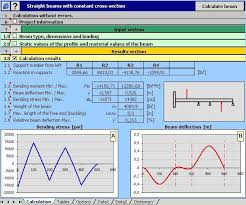 mitcalc beam calculation straight