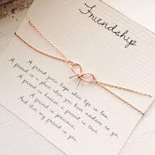 friendship friendship bracelet bow bracelet rose gold bow