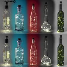 Đèn led 15 bóng trang trí chai rượu vang sử dụng điện sạc USB