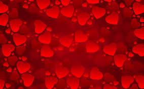 super love heart background red love