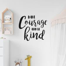 Huis Have Courage Be Kind Sticker Vinyl Decal Decors Wall Xsongue Cartoon House Castle Removable Wall Stickers Family Mural Art Home Decor Decal For Kid S Bedroom Nursery Decorative Diy