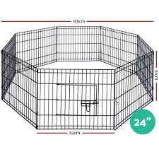 I Pet 24 8 Panel Pet Dog Playpen Puppy Exercise Cage Enclosure Play P