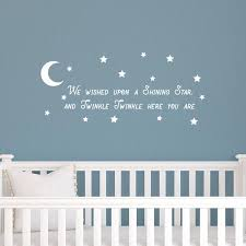 Vinyl Wall Art Decal We Wished Upon A Shining Star And Twinkle Twink Imprinted Designs