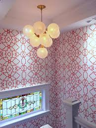 ways designers use graphic wallpaper in