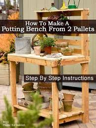 make your own potting bench pallet