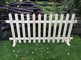 Free Standing Picket Fence Panels Smooth Timber Point Top 6ftx3ft Amazon Co Uk Diy Tools