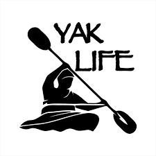 Kayak Kayaking Lake Paddle Jeep Vinyl Decal Vinyl Sticker Etsy
