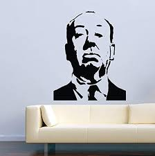 Amazon Com Vinyl Wall Decal Famous Person Movie Film Alfred Hitchcock Home Decor Sticker Vinyl Decals Home Kitchen