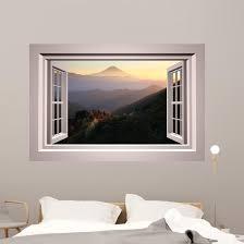 Mountain Wallmonkeys Window Wall Decal Wallmonkeys Com
