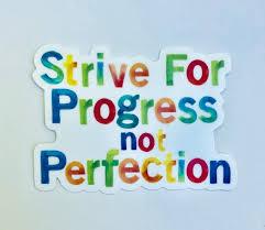 Strive For Progress Not Perfection Slp Pt Ot Sticker Etsy