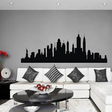 Large Cityscape Wall Batman Decal Buy Superhero Art Silhouette Black And White Set Vamosrayos