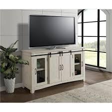 white barn door tv stand aspen rc