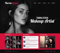 web design for tiarna leeson makeup