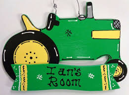 Personalized Farm Tractor Kids Room Door Name Wall Sign Bedroom Decor Plaque For Sale Online Ebay