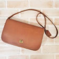 shoulder bag camel brown clutch