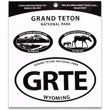 Grand Teton Np Triple Decal Shop Americas National Parks
