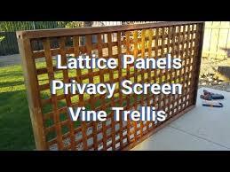 82 How To Make Lattice Panels Privacy Screens Vine Trellis Youtube Vine Trellis Lattice Privacy Fence Backyard Fences