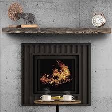 rustic fireplace mantel floating shelf
