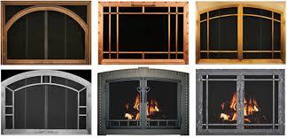 fireplace doors glass fireplaces