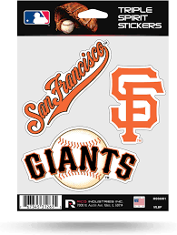 Amazon Com Rico Mlb Giants Sf Triple Spirit Stickers Multi One Size Mss6301 Sports Outdoors