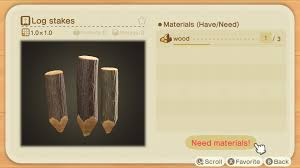 How To Make Log Stakes In Animal Crossing New Horizons Gamepur