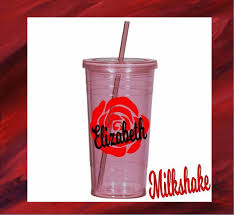 Rose Vinyl Decal Personalized Name Flower For Your Tumbler Rambler Cups Lowball Ebay