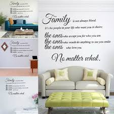 Vova Large Quotes Wall Decal Inspirational Stickers Motivational Family Saying Decorative Nursery Art Kids Baby Home Letters Vinyl Peel Stick Mural Art Family Is Not Always Blood