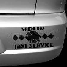 Shiba Inu Taxi Decal Sew Dog Crazy