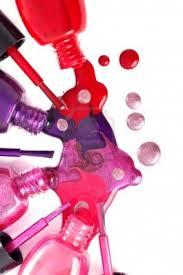 nail polish bottles pouring