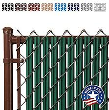 7ft Green Ridged Slats For Chain Link Fence Amazon Co Uk Garden Outdoors