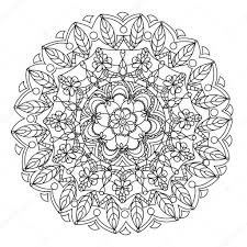 Mandala Flower Coloring Vector For Adults Stock Vector