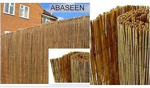 Natural Peeled Reed Screening Roll 4m 1m X 4m Garden Screening Fencing Panel Ebay