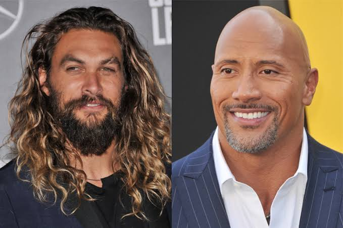 Dwayne Johnson Supporting Jason Momoa