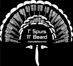 Custom Turkey Decals Show Off Your Turkey S Stats On Your Truck Trophystickers Com