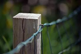 Fence Wooden Posts Post Pile Wood Fence Post Barrier Wire Weathered Rustic Pikist