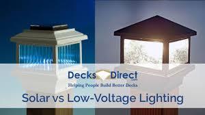 Solar Lighting Vs Low Voltage Lighting Youtube