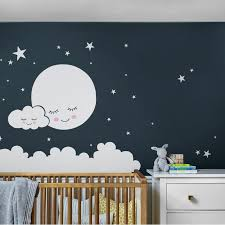 Harriet Bee Burmeister Moon Clouds And Stars Wall Decal Reviews Wayfair