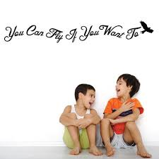 You Can Fly If You Want To Decal 0089 Kids Wall Art Playroom Dec Wall Decal Studios Com