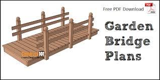flat garden bridge plans diy
