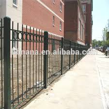 metal sliding garden fence iron pipe