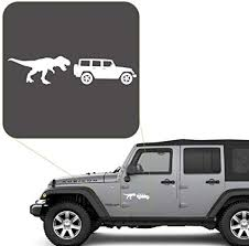 Amazon Com T Rex Off Road Decal Sticker For Car Window Laptop And More 1005 4 X 15 5 White Arts Crafts Sewing