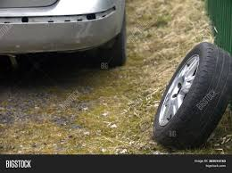 Spare Tire Leaned Image Photo Free Trial Bigstock