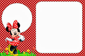 Minnie In Red Free Printables And Party Invitations Tarjetas Minnie Tarjetas De Invitacion Minnie Invitaciones Minnie