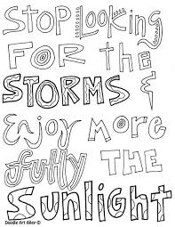 Stop Looking For The Storms And Enjoy More Fully The Sunlight