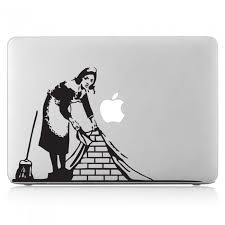 Banksy Of The Maid Laptop Macbook Vinyl Decal Sticker