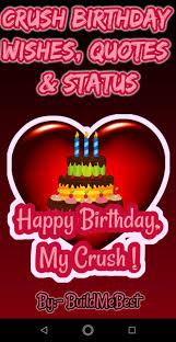 birthday wishes for crush greeting cards message for android